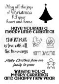 Woodware - Christmas Wordery - Clear Magic Stamp Set - FRS715